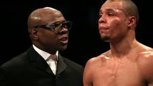 Chris Eubank Jr with father Chris Eubank Sr