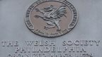 Welsh society plaque