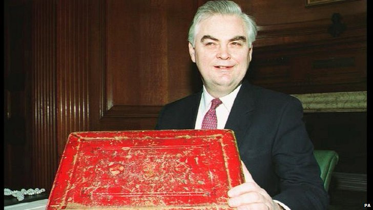 Norman Lamont and red box