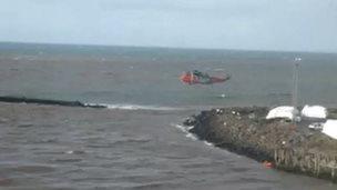 Ayr harbour rescue