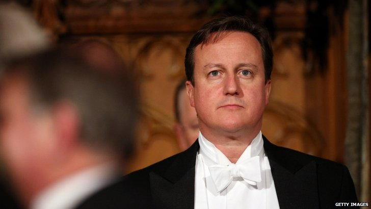 David Cameron in white tie