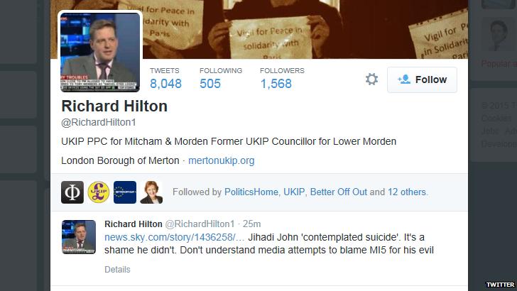 Richard Hilton twitter