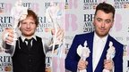 Ed Sheeran (left) and Sam Smith