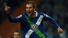 Wolfsburg's Dutch striker Bas Dost