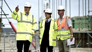 David Cameron visits building site