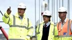 David Cameron visits building site