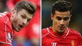 Liverpool duo Adam Lallana and Philippe Coutinho