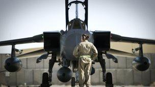 A RAF Tornado GR4