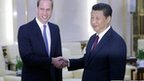 Prince William (left) and Chinese President Xi Jinping