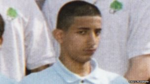 Mohammed Emwazi Jihadi John, in a school year photo from 2004/5