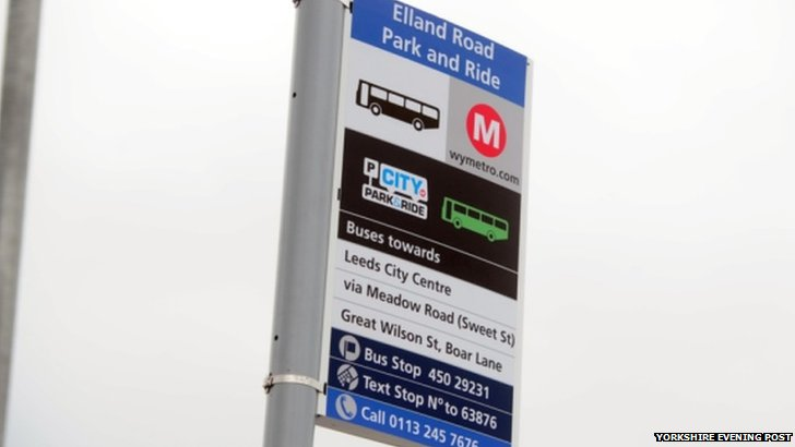 Park and Ride bus stop sign