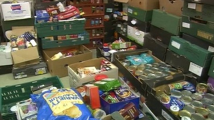Food at a foodbank