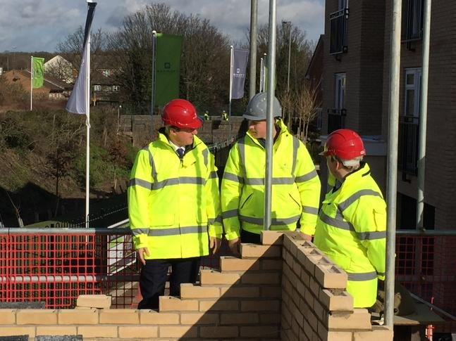David Cameron visiting a building site in Essex