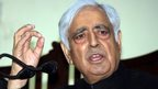 Jammu and Kashmir Chief Minister Mufti Mohammed Sayeed at a press conference after taking oath in Jammu on 01 March 2015