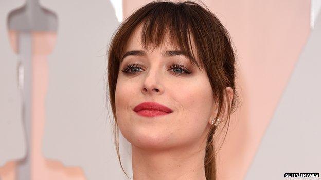 Dakota johnson is skit causes furore bbc news