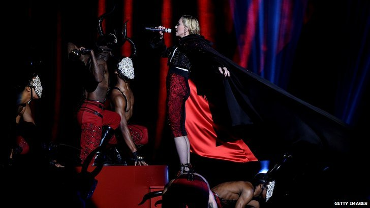 Madonna at The Brit awards