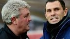 Steve Bruce and Guy Poyet