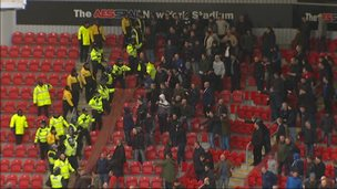 Football crowd and police
