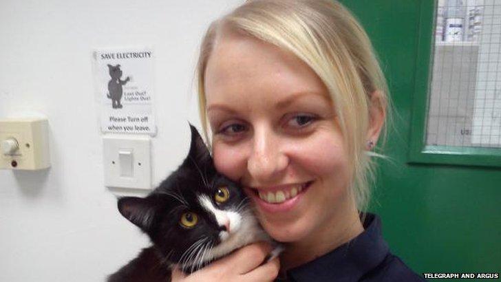 Rocky the Cat and Jasmin Douthwaite