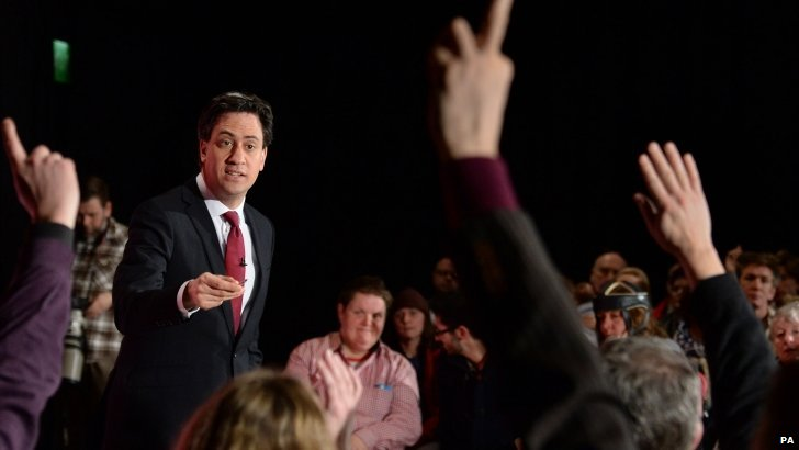 Ed Miliband at People's Question Time in Brighton