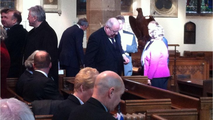 Communities Secretary Eric Pickles at memorial service for MEP Philip Bradbourn