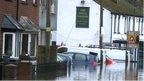 Upper Lydbrook in flood