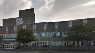 The incident took place within yards of the school