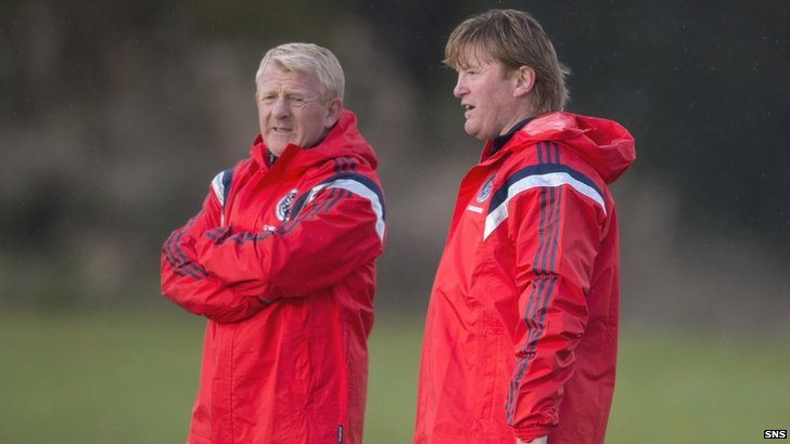 Gordon Strachan and Stuart McCall
