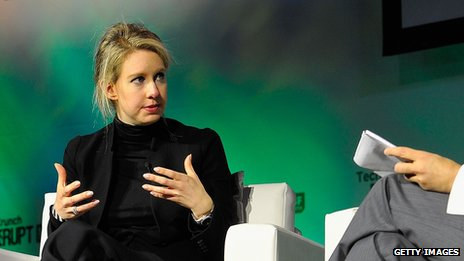 Elizabeth Holmes is the youngest self-made woman on the Forbes list