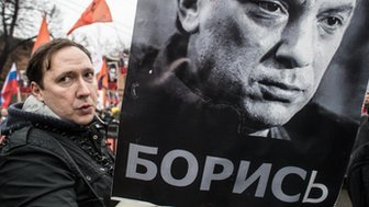 Marcher in Moscow (1 March)