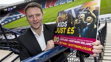Stephen Craigan helps to promote the Scotland-Northern Ireland friendly