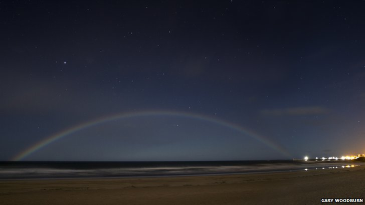 Moonbow over Seahouses