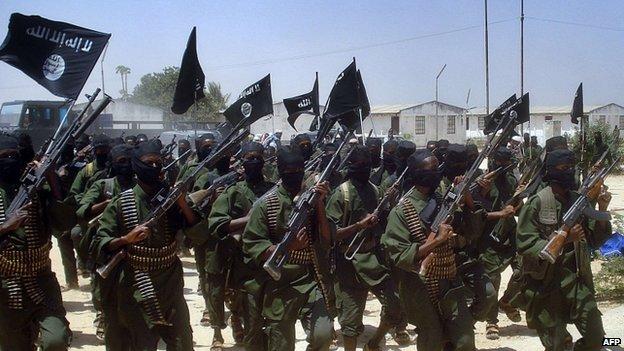 Al-Shabab fighters training in Somalia