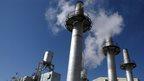 The exterior of the Arak heavy water production facility in Arak, Iran