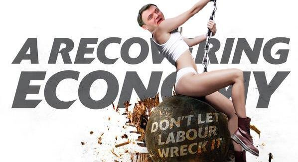 Spoof Conservative election poster featuring Ed Balls