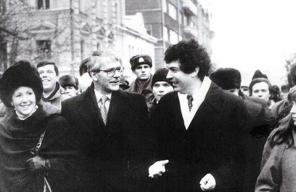 Sir John Major and Boris Nemtsov