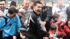 St Austell celebrate making the last four of the FA Vase