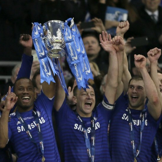 John Terry, Didier Drogba and Branislav Ivanovic