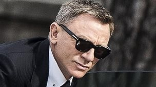 Daniel Craig filming Bond film Spectre in Rome