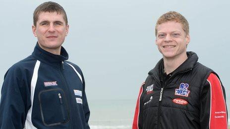 British Championship riders Sam West and Craig Neve