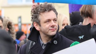 Michael Sheen at the NHS march