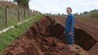Soil erosion, Ross-on-Wye, UK - file pic