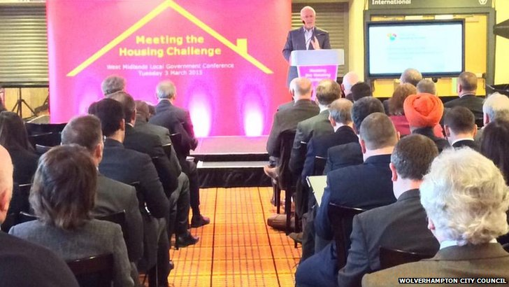 The Local Government Association conference in Wolverhampton discussing housing