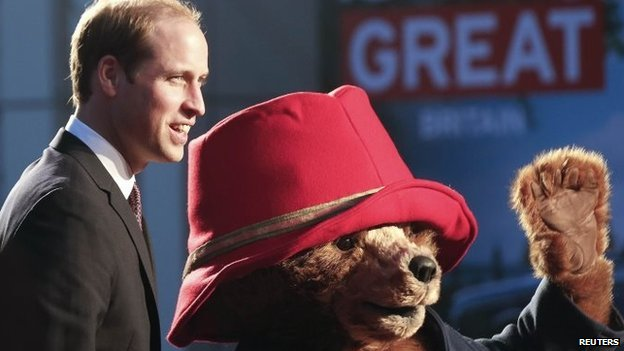 Prince William at the China premiere of the film Paddington