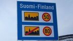 A Finnish speed limit sign
