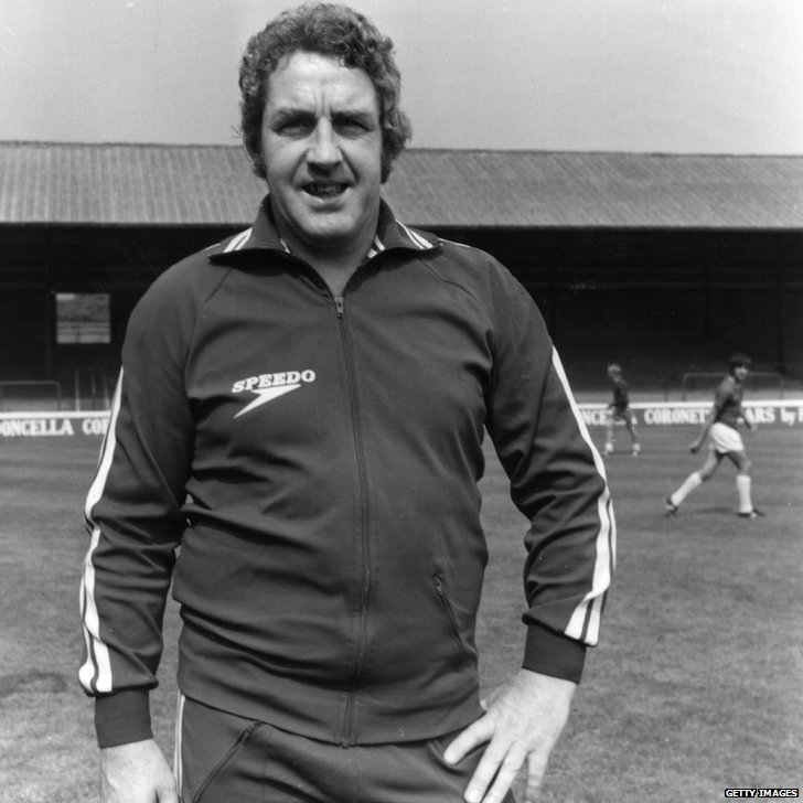 Dave Mackay, manager of Walsall FC