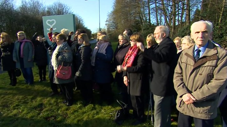 Protest outside Spire Healthcare