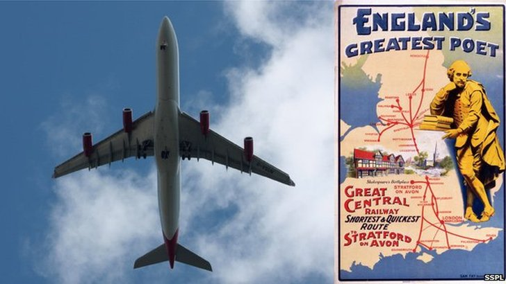 Airbus and Shakespeare poster