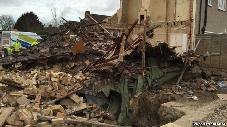 Collapsed home in Romford