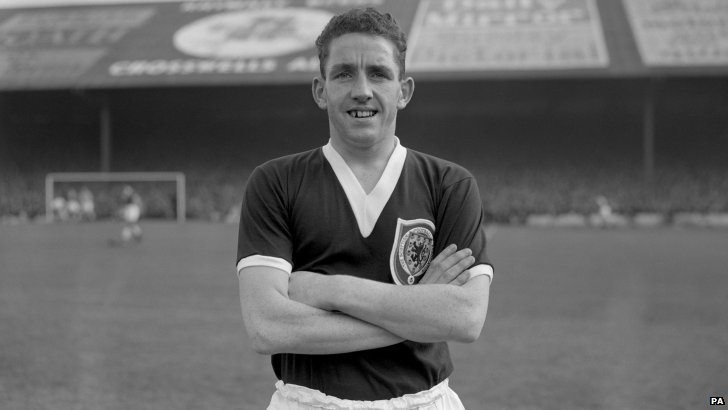 Dave Mackay in his Scotland kit